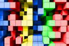 Wall Mural - Deep Tetris Color