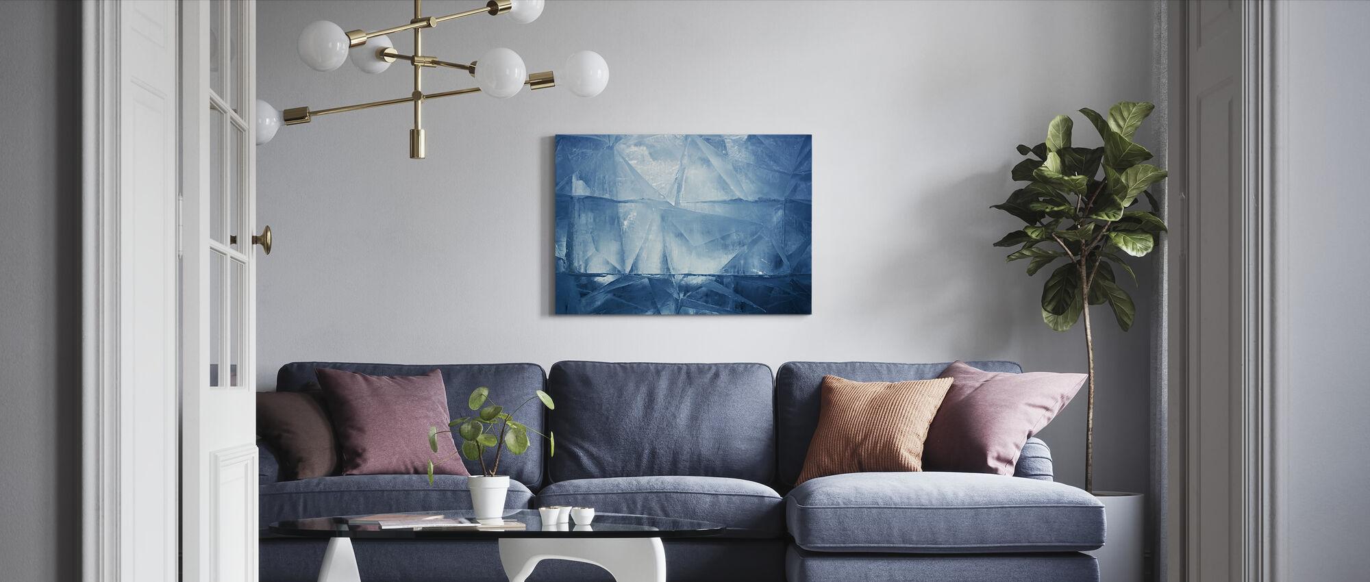Blå is - Canvastavla - Vardagsrum
