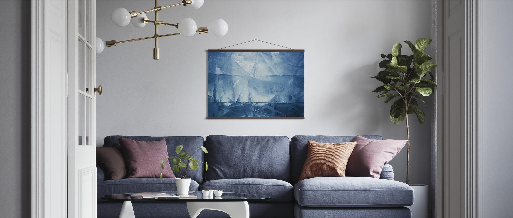 Blauw Ijs - Poster - Woonkamer