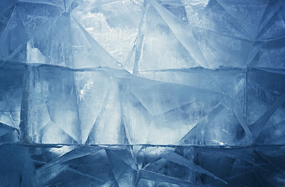 Blue Ice Fototapeter & Tapeter 100 x 100 cm