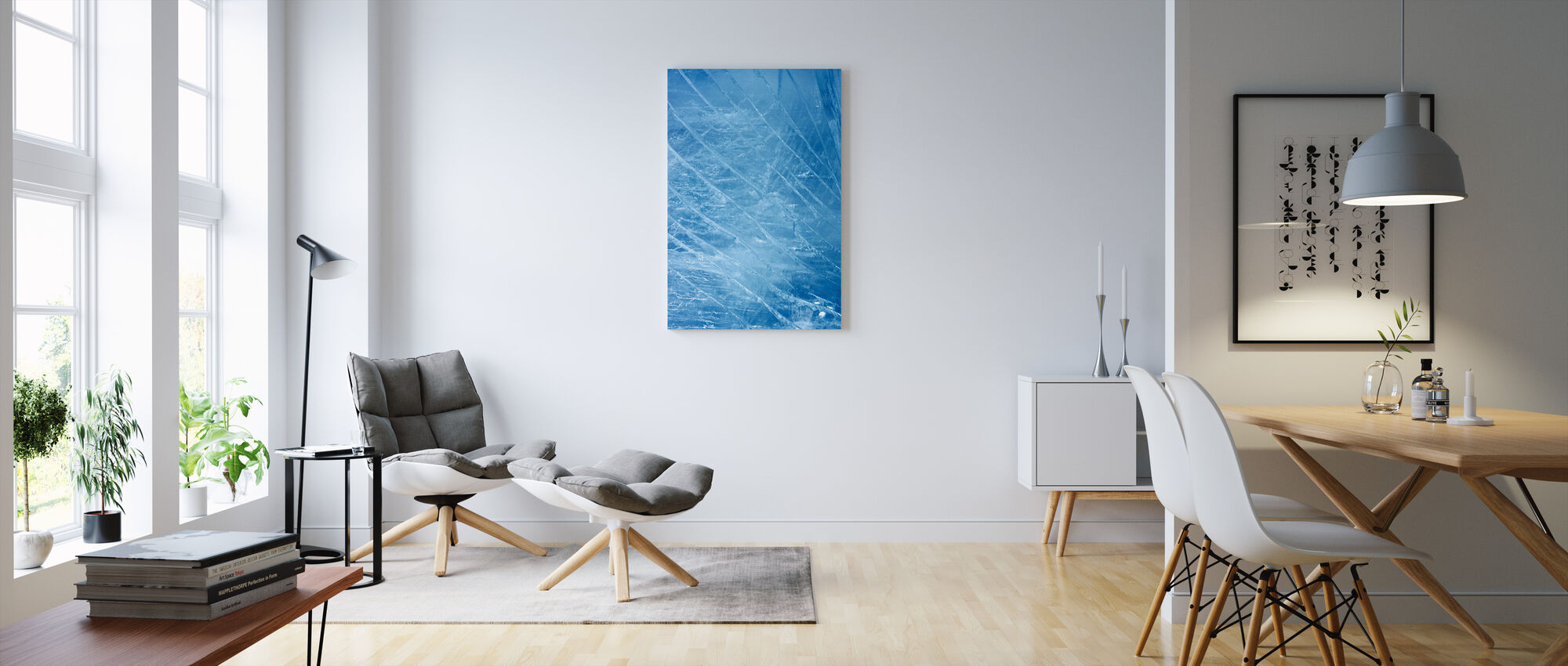 Ice Stripes - Canvas print - Living Room