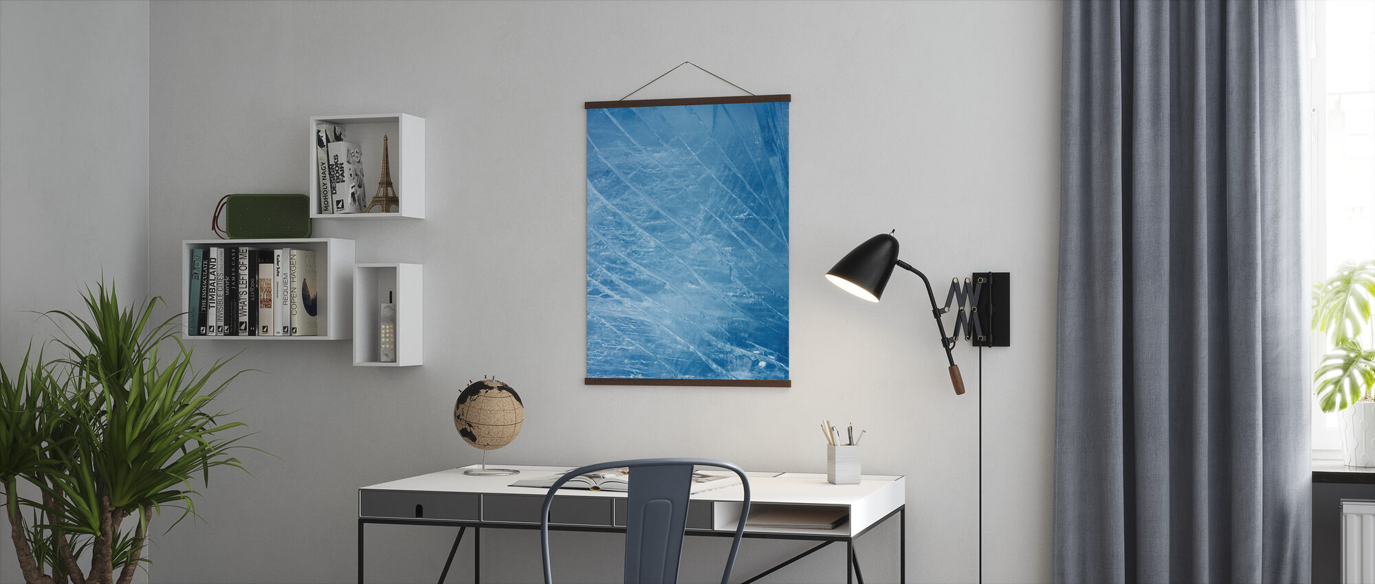 Ice Stripes - Poster - Office