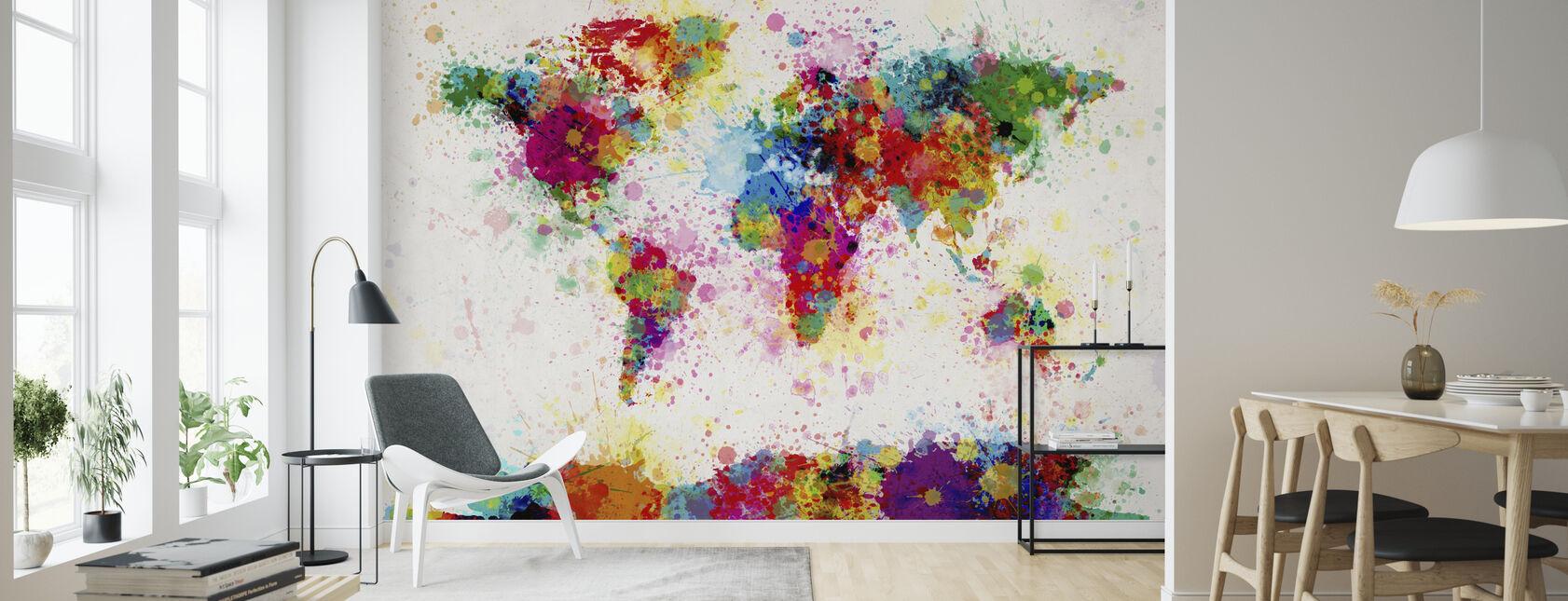 Mapa de salpicaduras de pintura - Papel pintado - Salón
