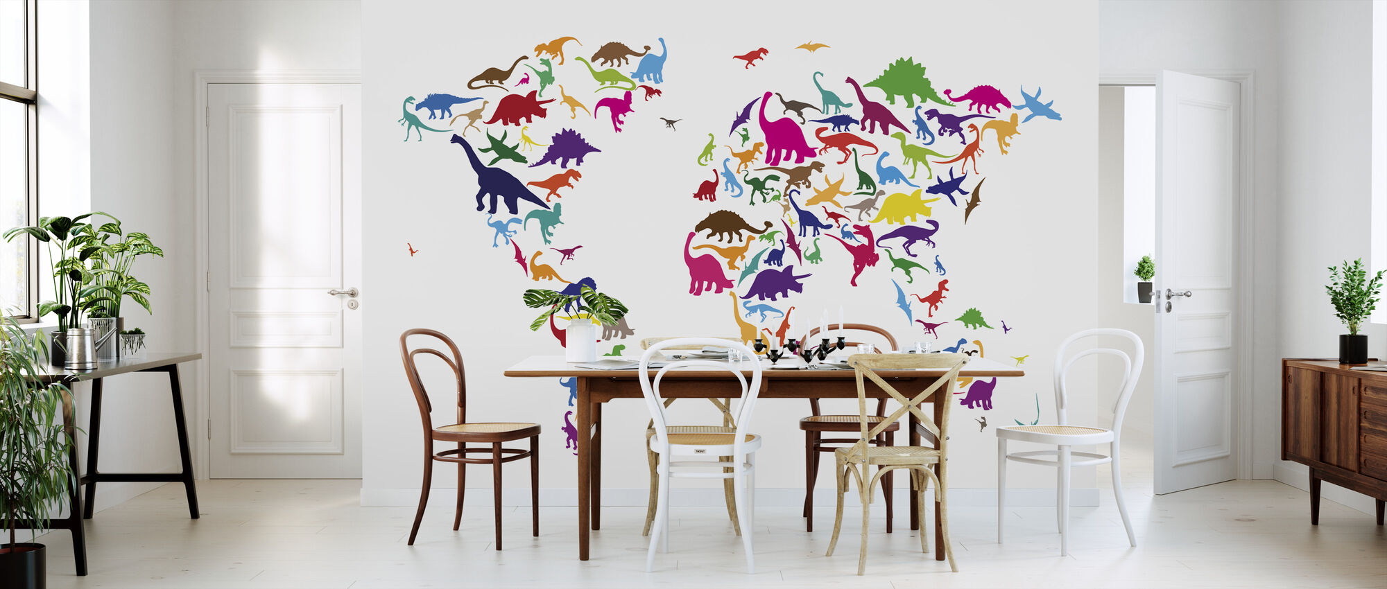 Dinosaur World Map - Wallpaper - Kitchen