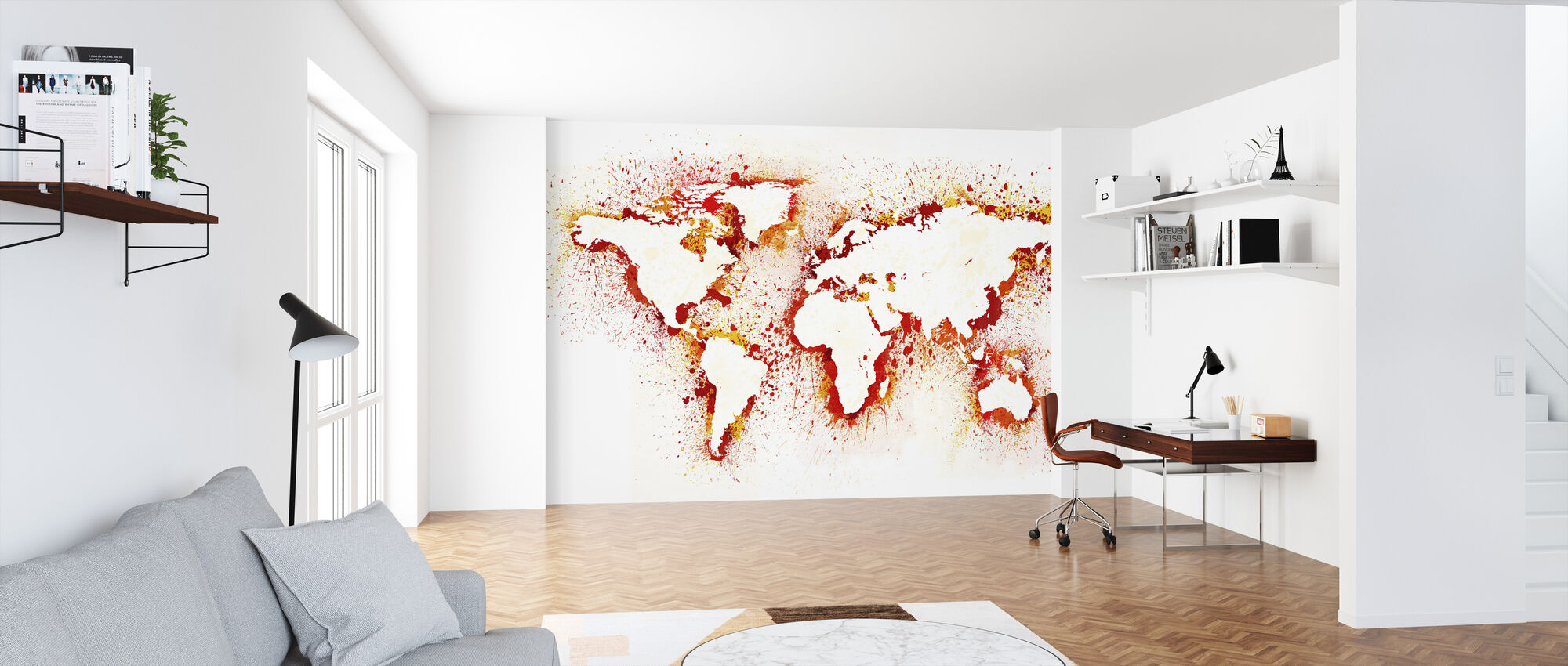 Abstract World Map - Wallpaper - Office