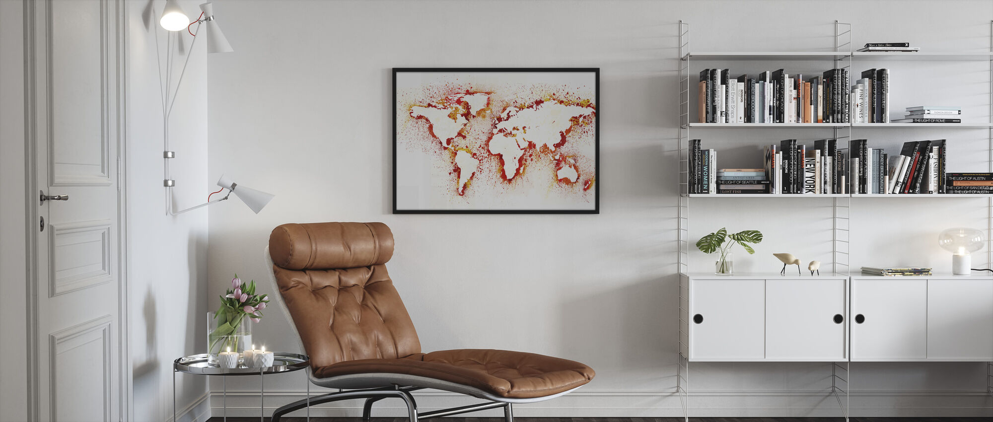 Abstract World Map - Framed print - Living Room