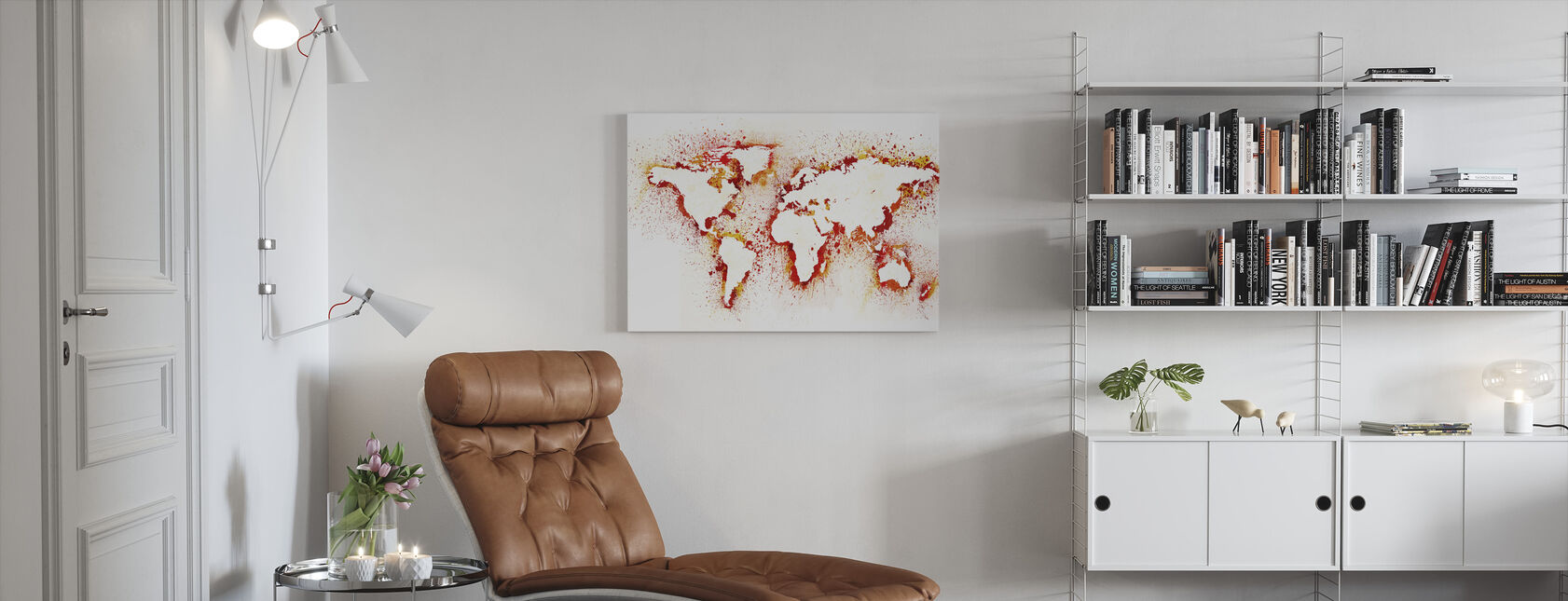 Abstract World Map - Canvas print - Living Room