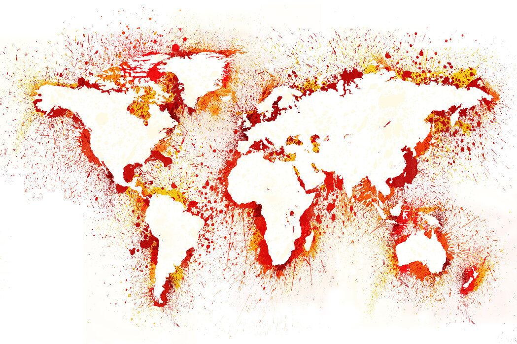Abstract World Map Affordable Wall Mural Photowall
