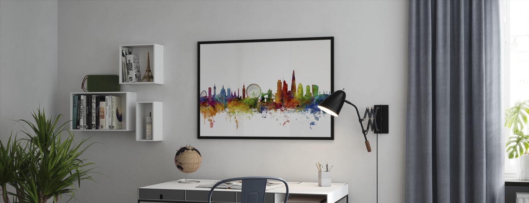 Londyn Skyline 2 - Obraz w ramie - Biuro