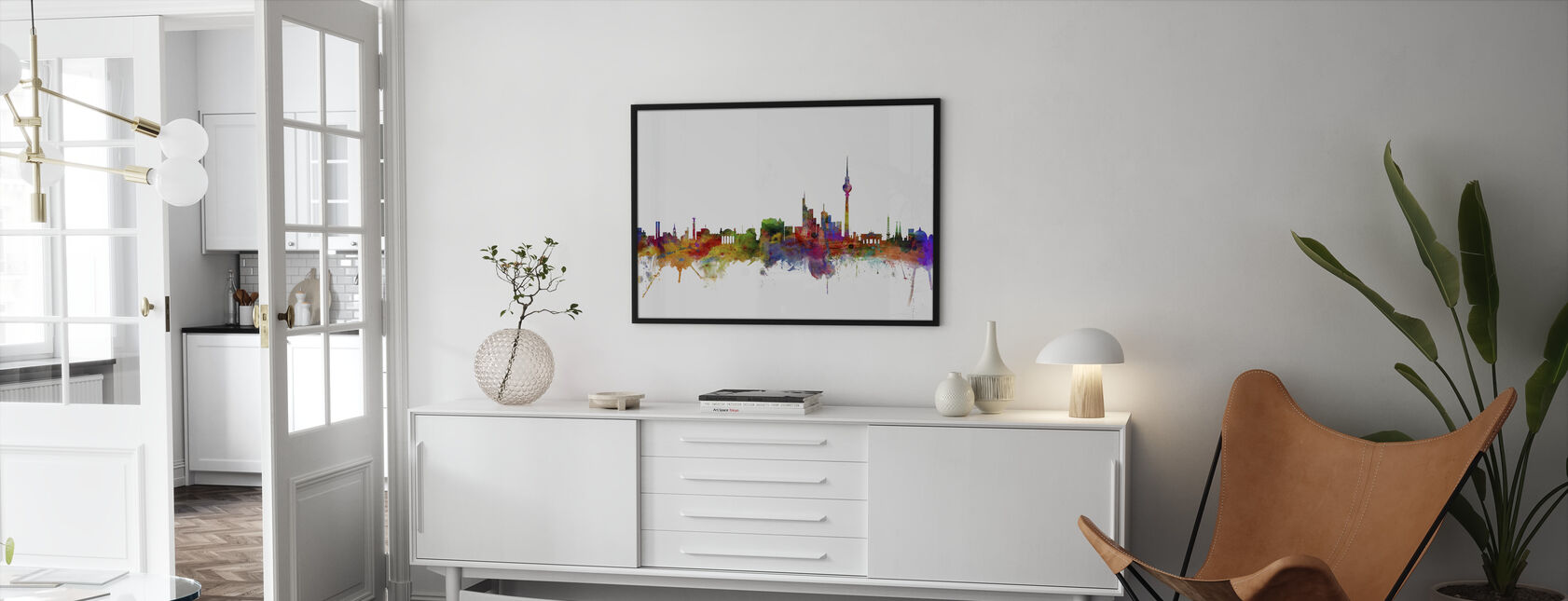 Berlin Skyline - Framed print - Living Room