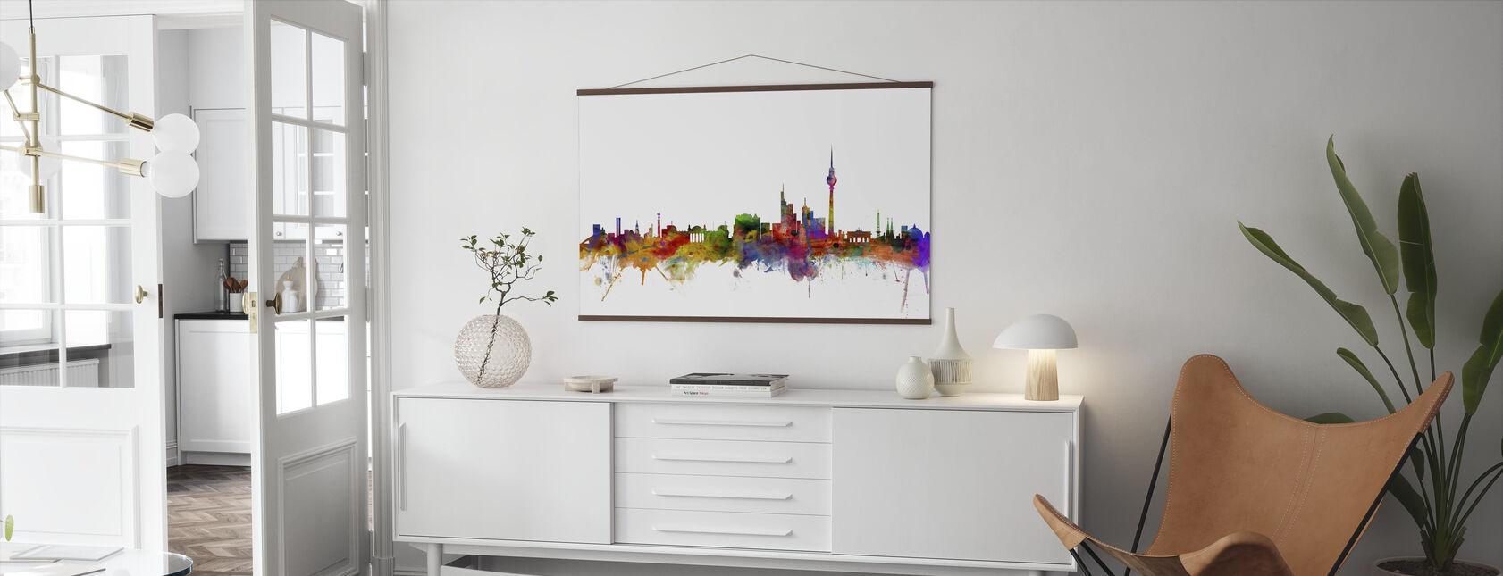 Berlin Skyline - Poster - Living Room