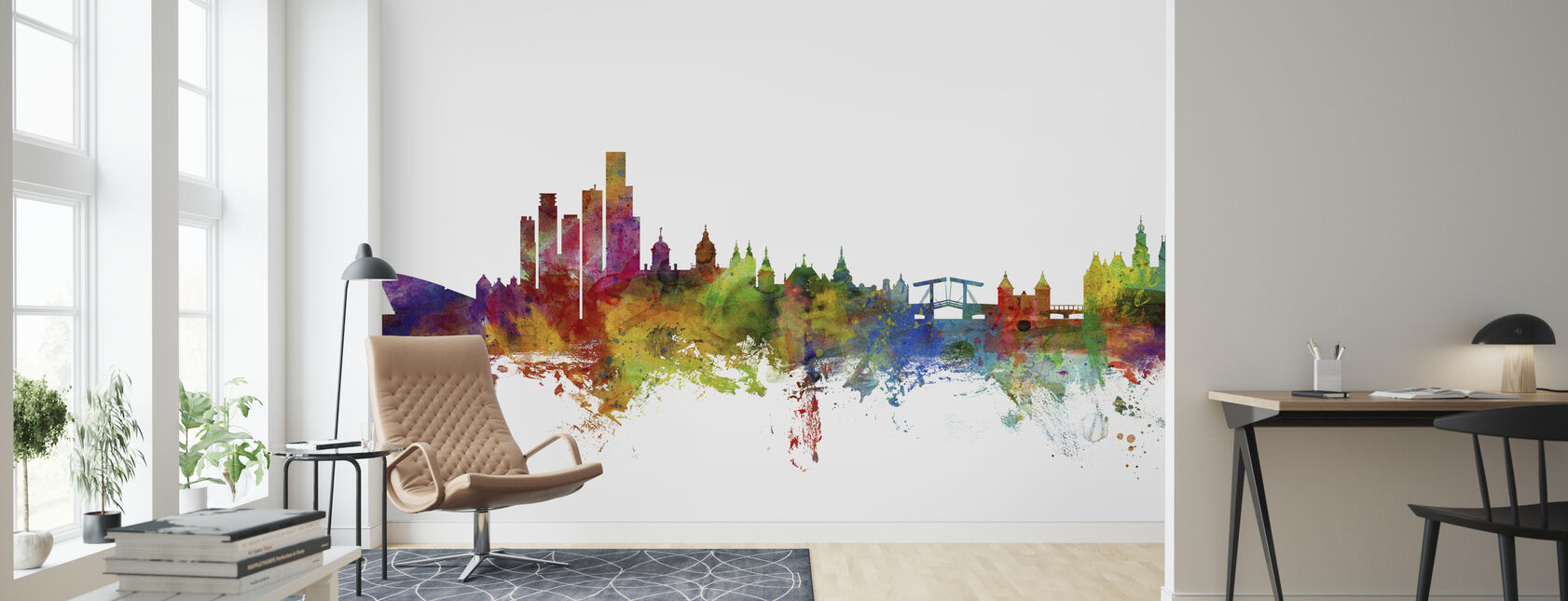 Amsterdam Skyline - Wallpaper - Living Room