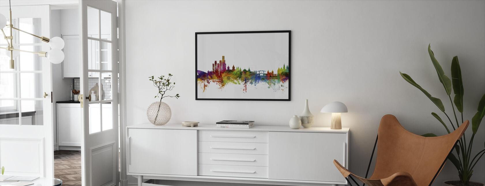 Amsterdam Skyline - Framed print - Living Room
