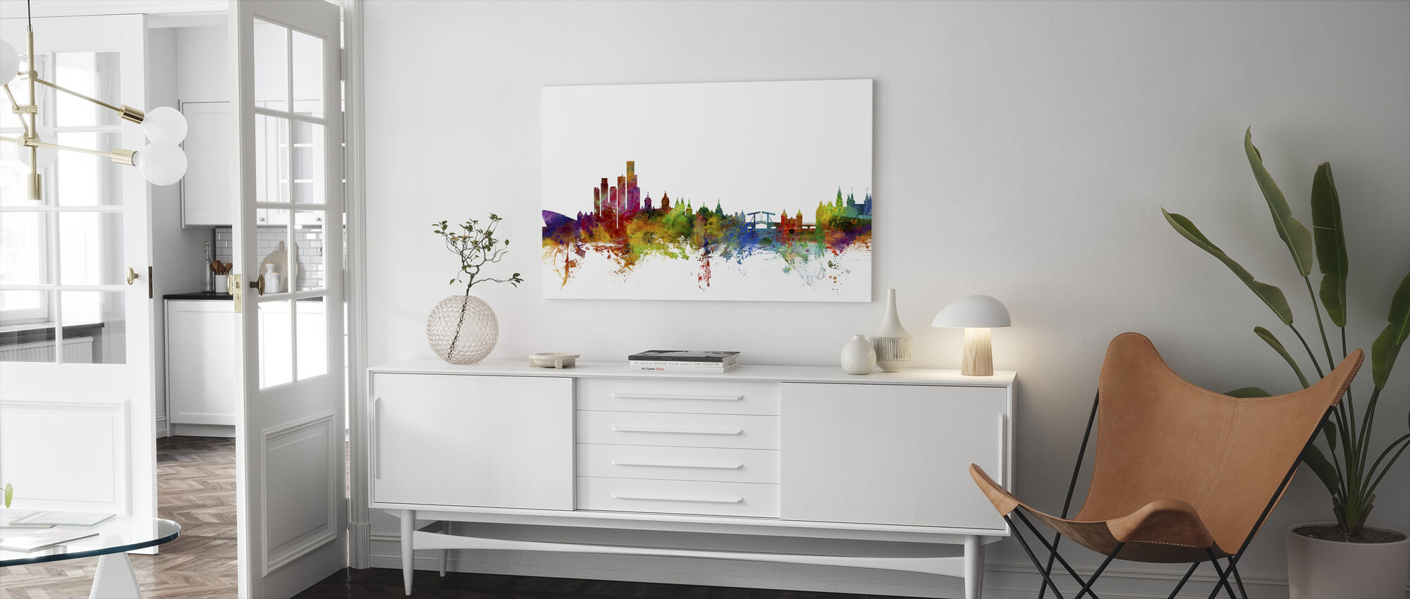 Amsterdam Skyline - Canvas print - Living Room