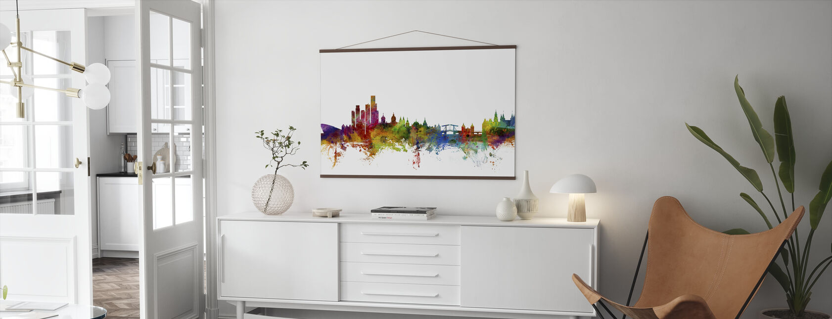 Amsterdam Skyline - Poster - Living Room