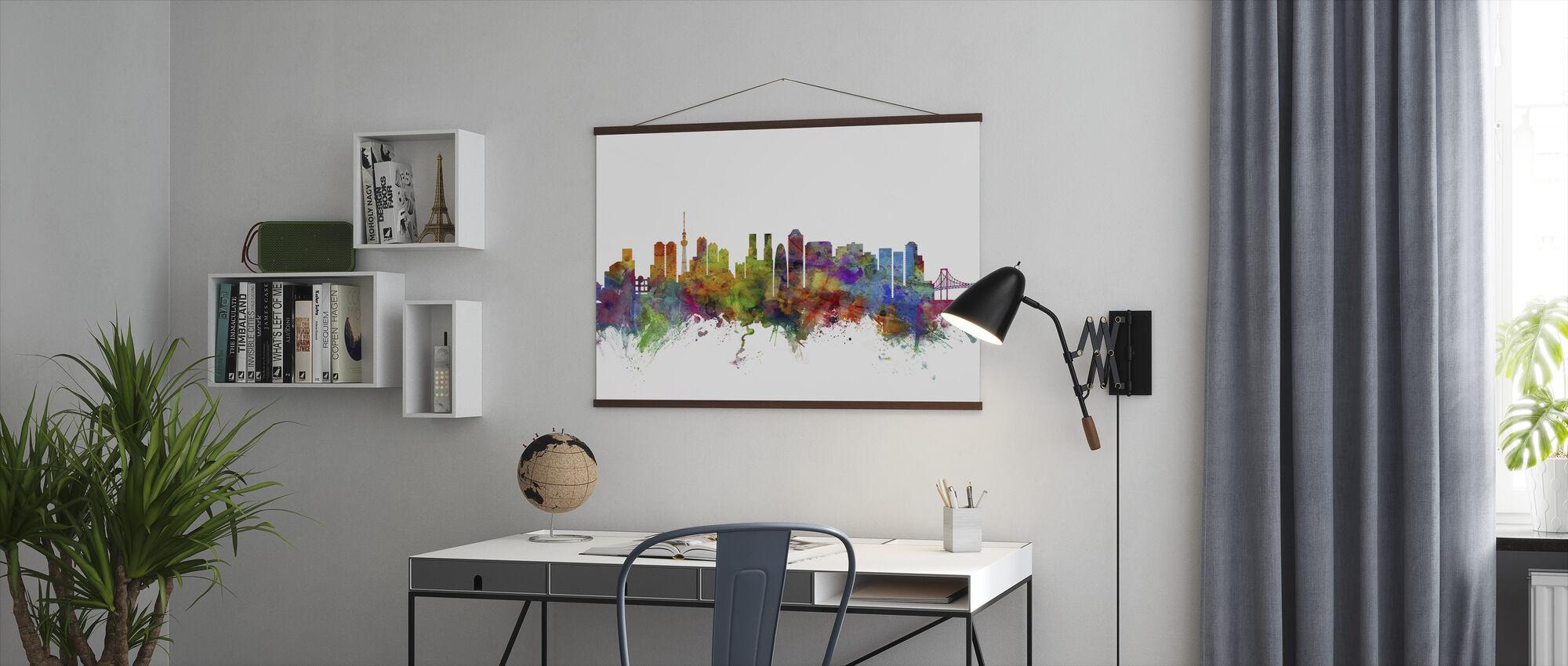 Skyline van Tokio - Poster - Kantoor