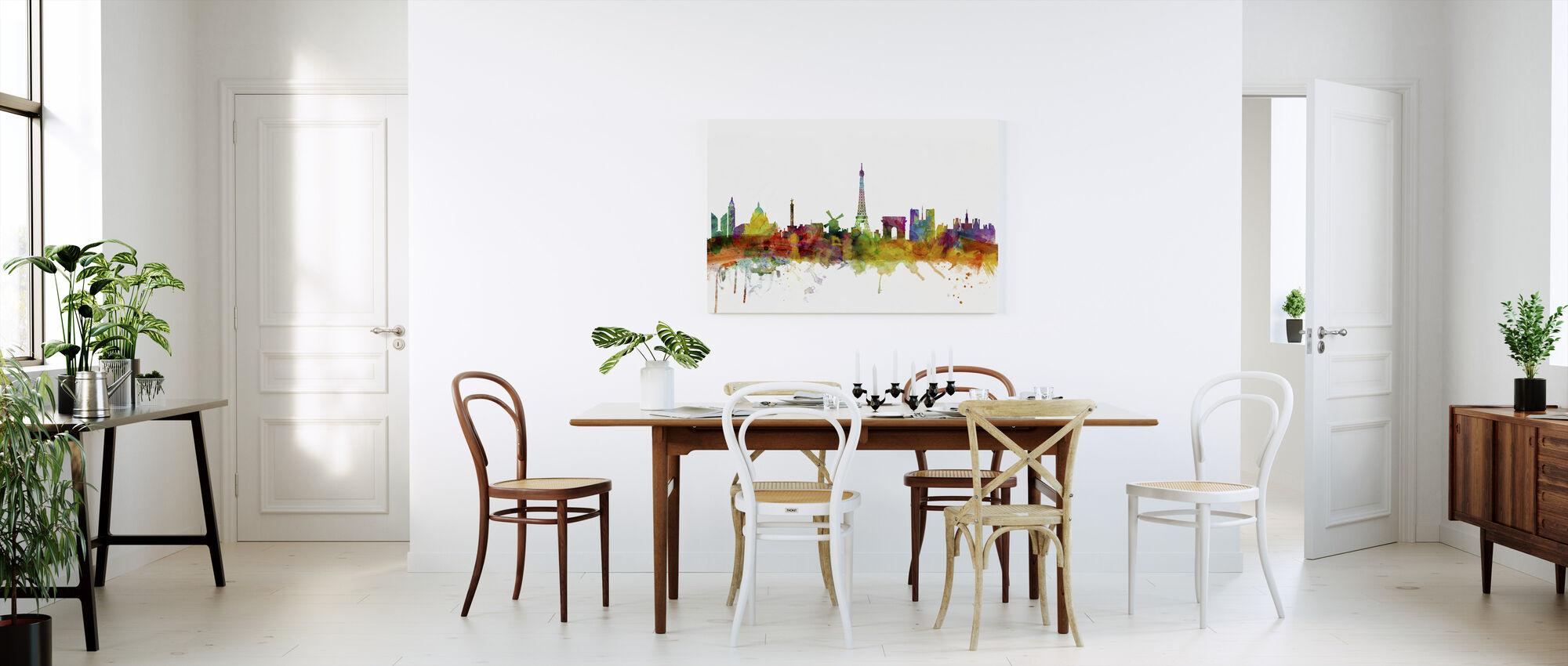 Vue d'horizon de Paris - Impression sur toile - Cuisine