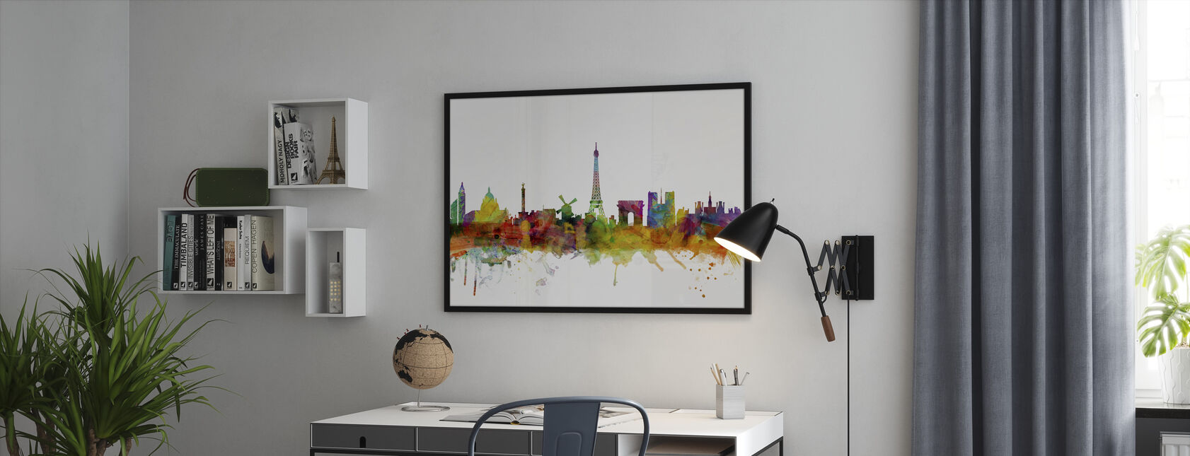 Paris Skyline - Framed print - Office