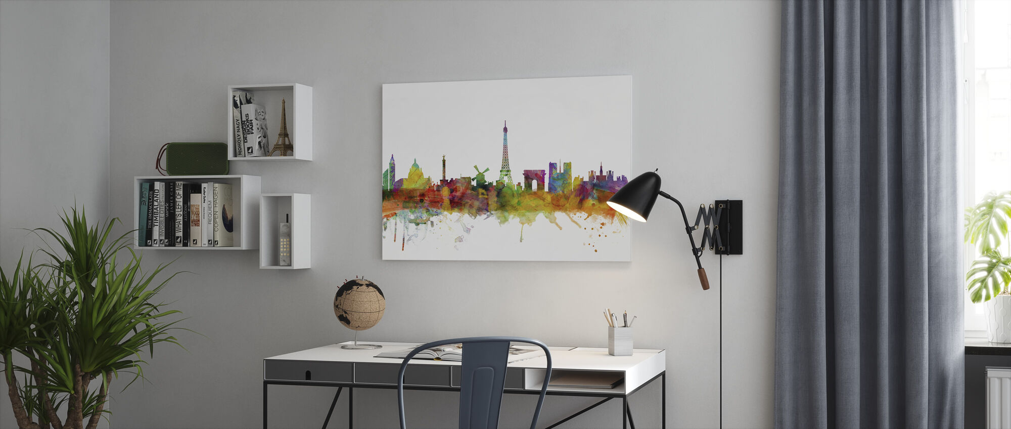 Paris Skyline - Canvas print - Office