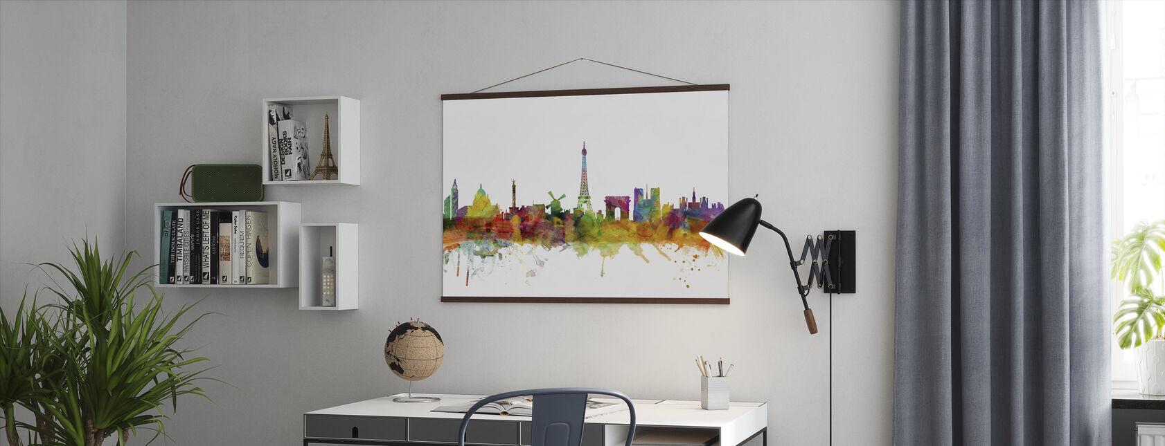 Skyline von Paris - Poster - Büro