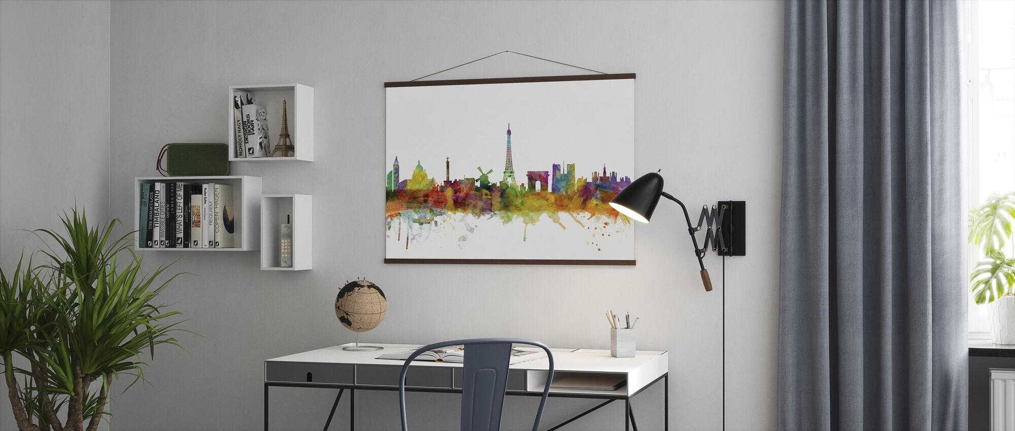 Paris Skyline - Poster - Office