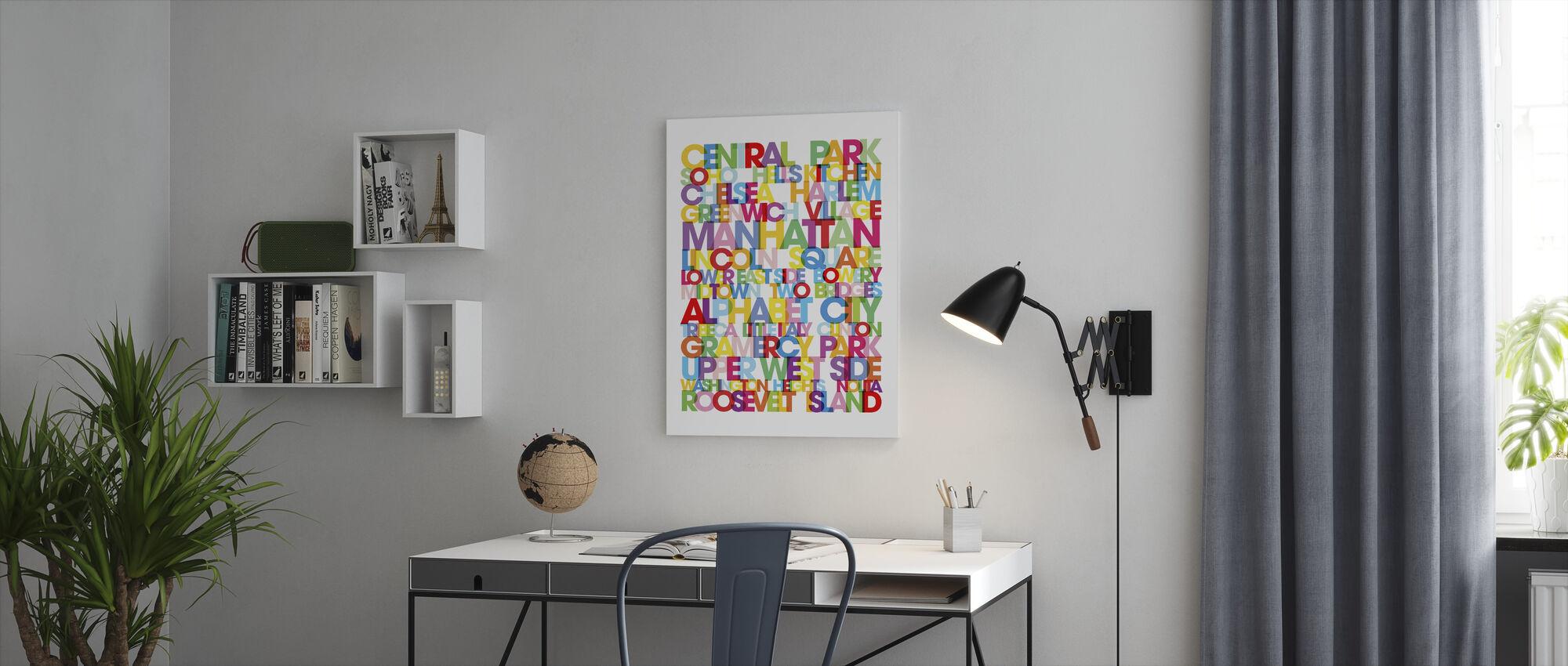 Manhattan Boroughs Bus Blind - Canvas print - Office
