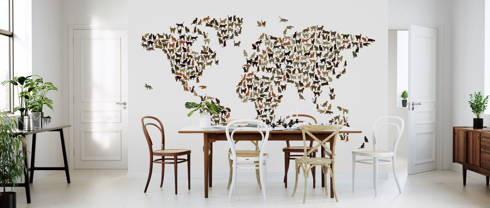 Cats World Map - Wallpaper - Kitchen