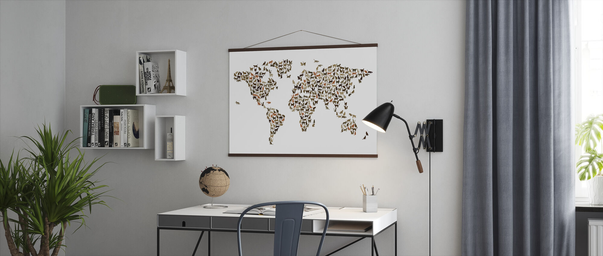 Cats World Map - Poster - Office
