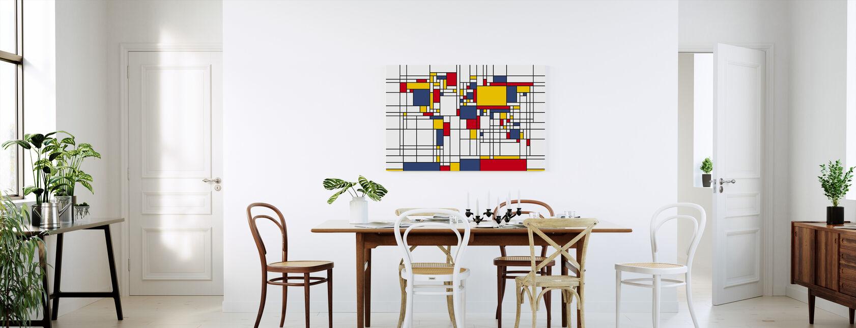 Piet Mondrian Style Mapa del Mundo - Lienzo - Cocina