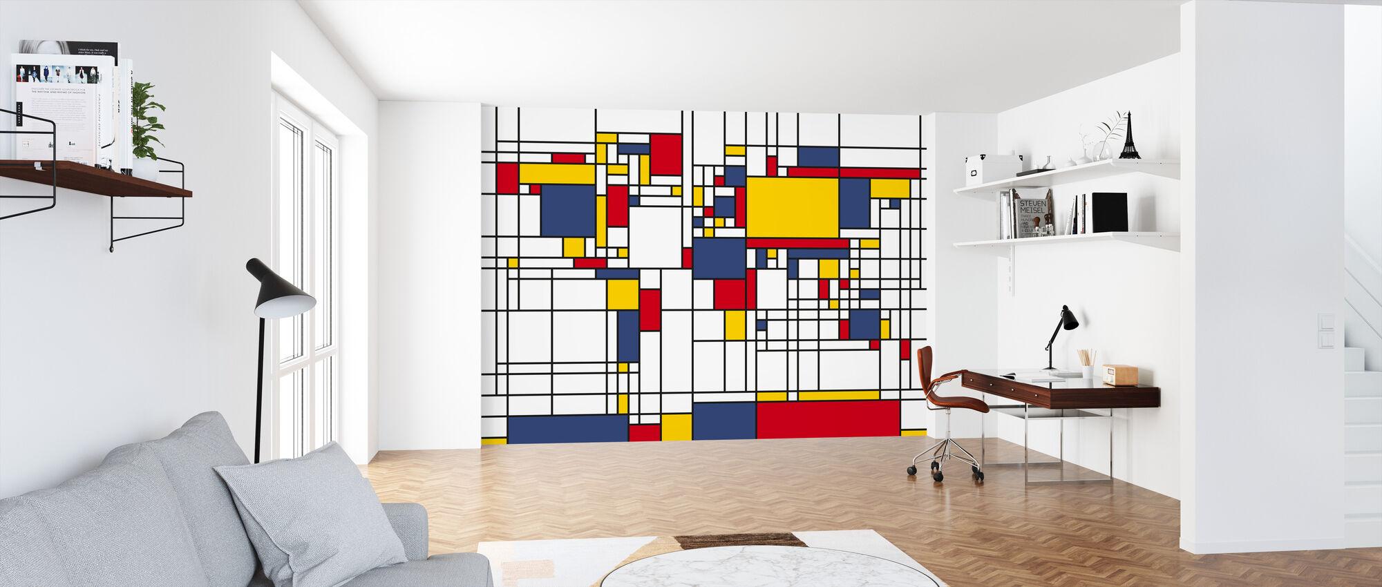 Piet Mondrian Style World Map