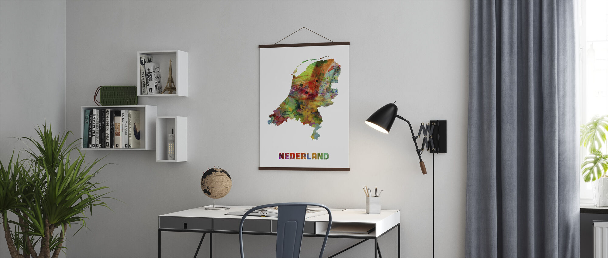 Nederland Watercolor Kaart - Poster - Kantoor