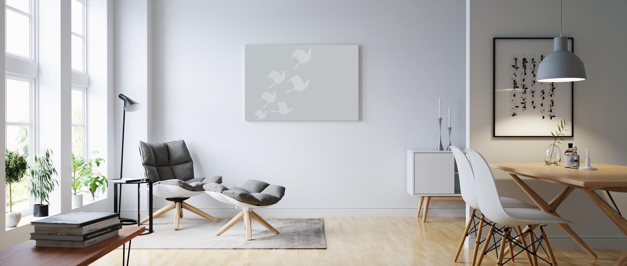 Origami Grey - Canvas print - Living Room