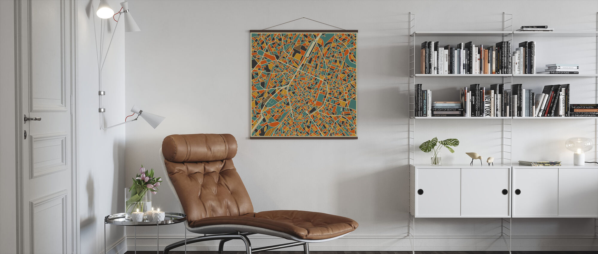 Multicolor Map - Brussels - Poster - Living Room