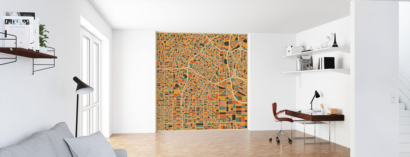 Multicolor Map - Los Angeles - Wallpaper - Office