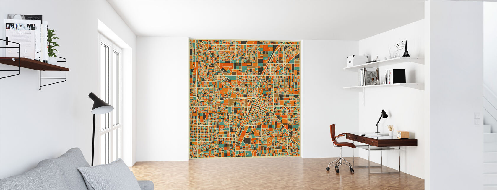 Multicolor Map - Las Vegas - Wallpaper - Office
