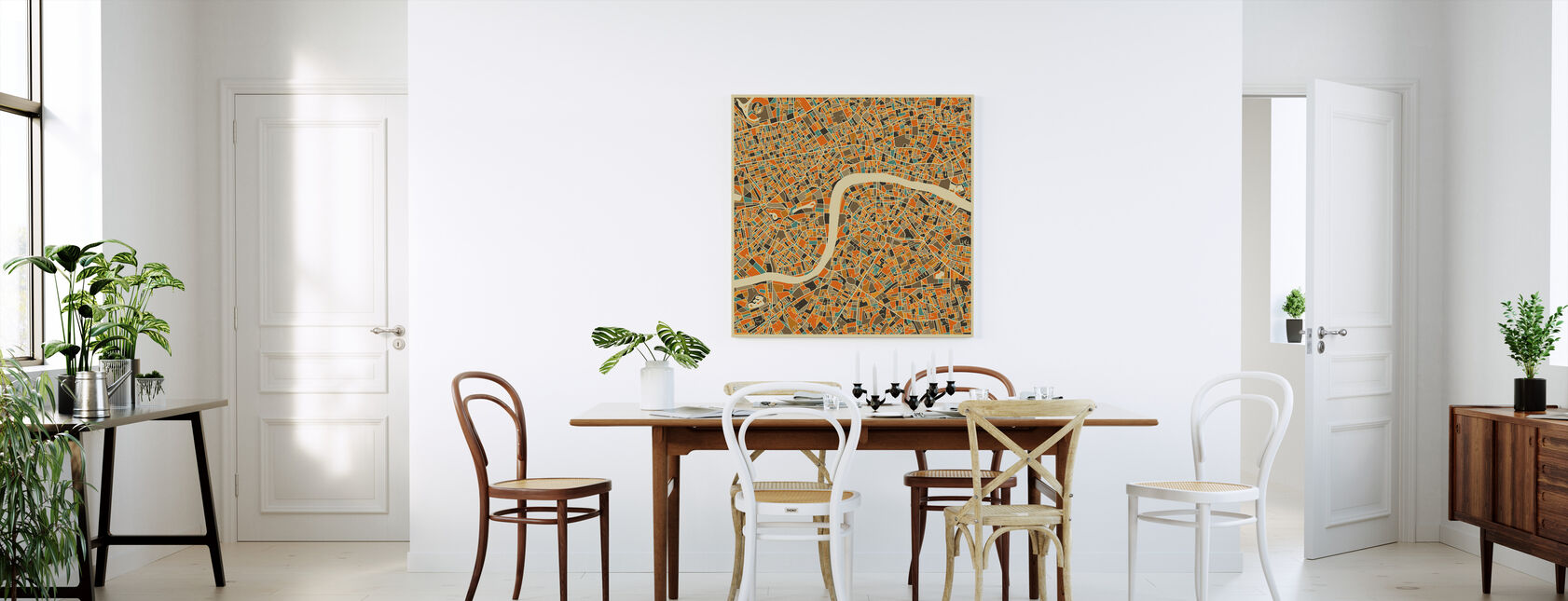 Multicolor Map - London - Canvas print - Kitchen