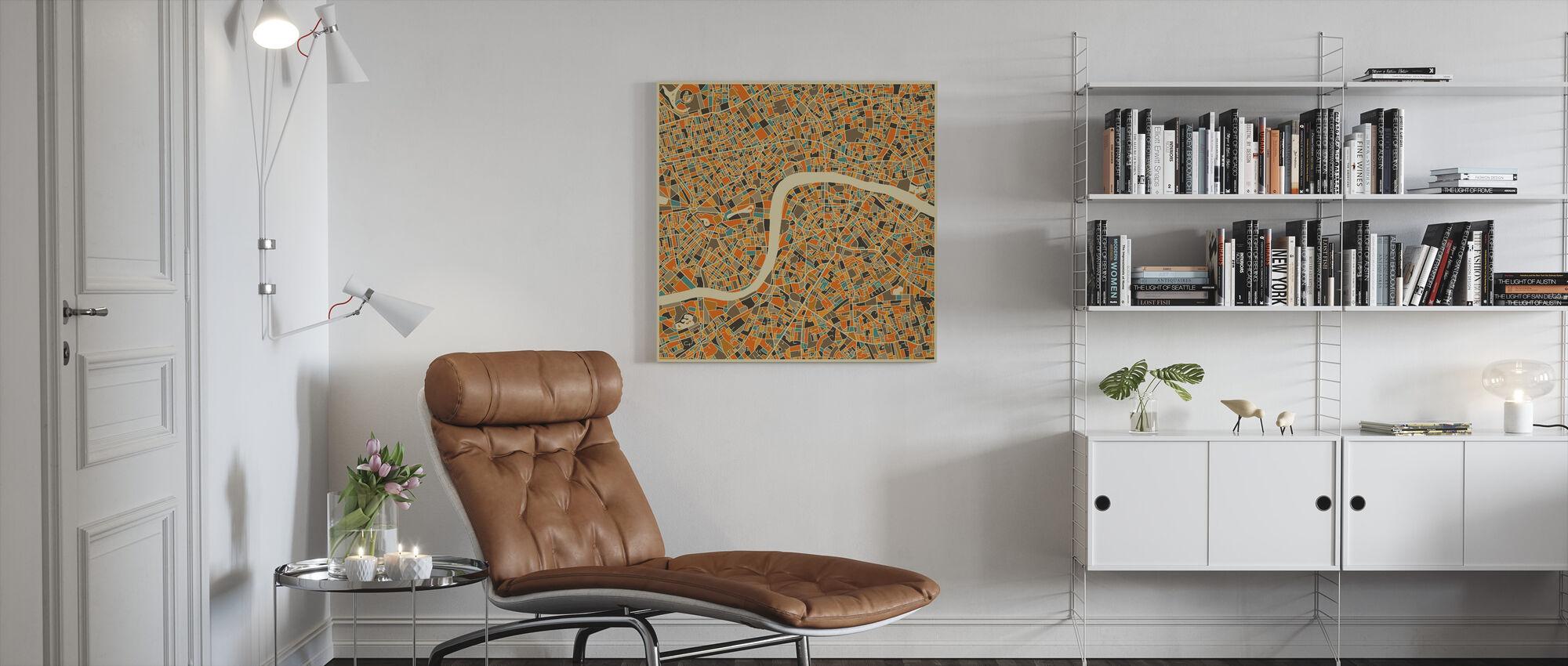Multicolor Kaart - Londen - Canvas print - Woonkamer