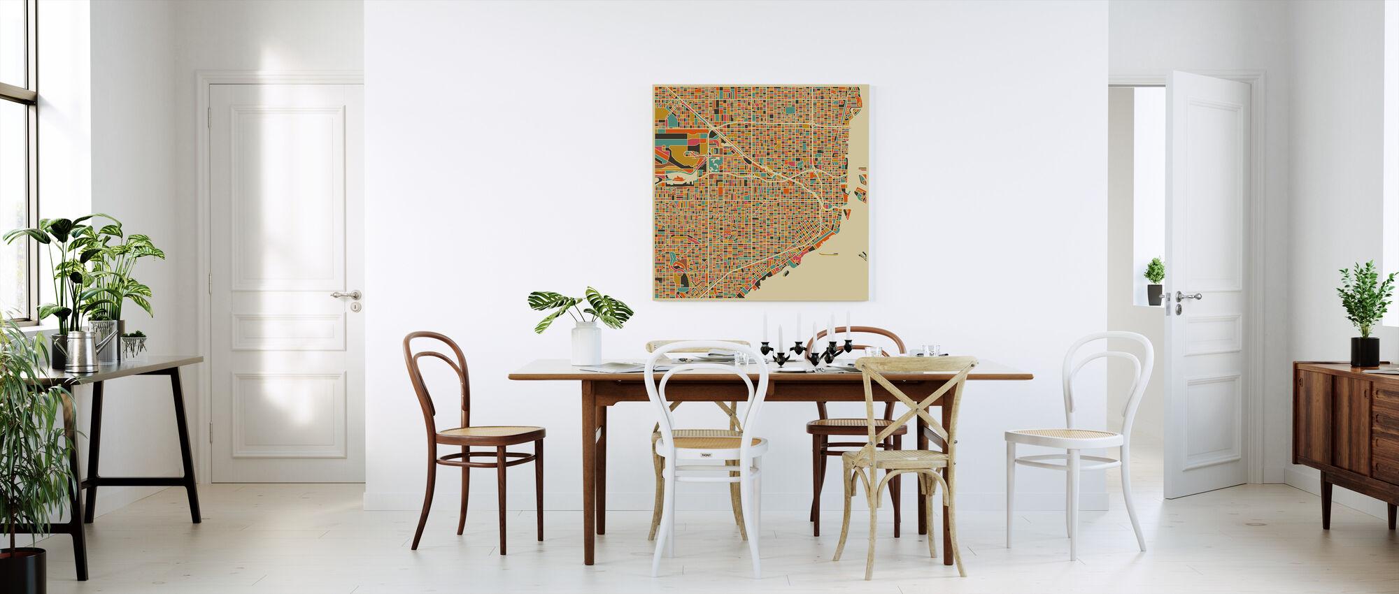 Multicolor Map - Miami - Obraz na płótnie - Kuchnia