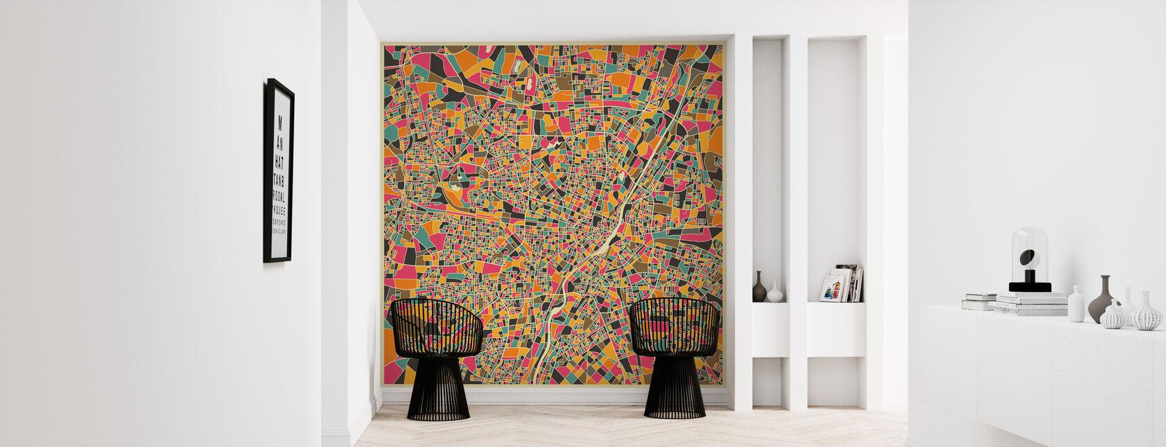 Multicolor Map - Munich - Wallpaper - Hallway