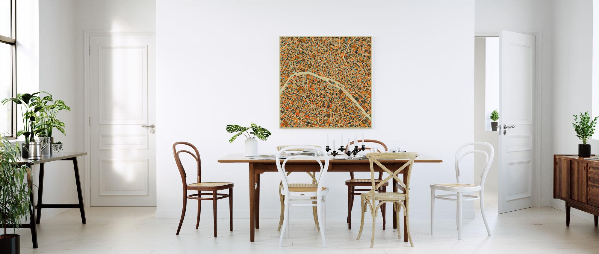 Multicolor Map - Paris - Canvas print - Kitchen