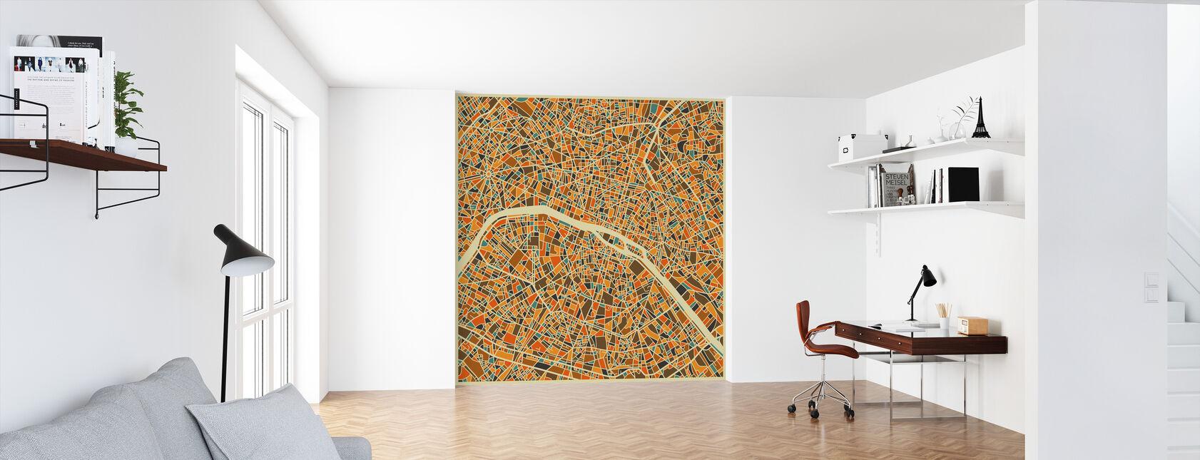 Multicolor Map - Paris - Wallpaper - Office