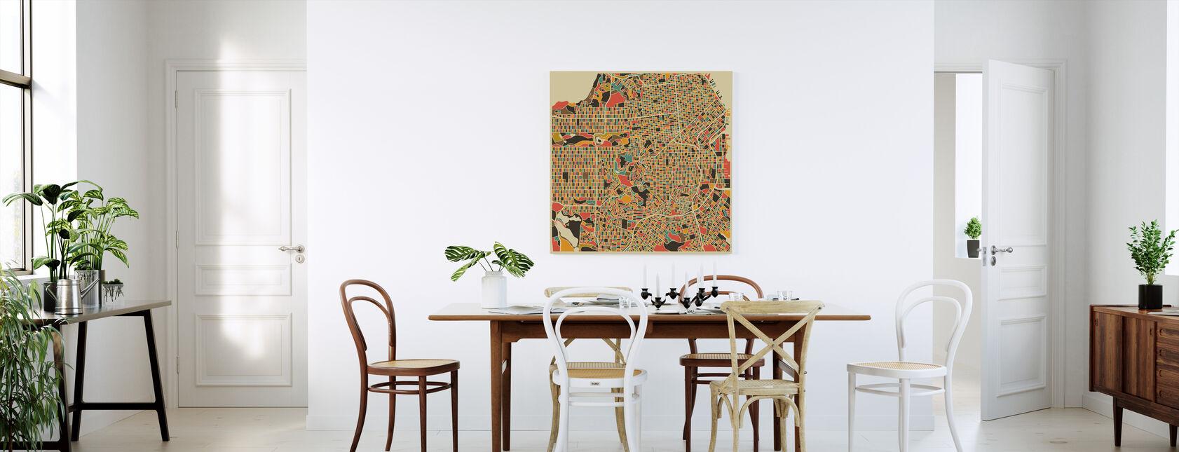 Multicolor Map - San Francisco - Canvas print - Kitchen