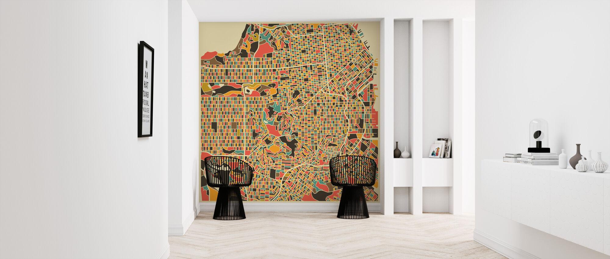 Multicolor Map - San Francisco - Wallpaper - Hallway