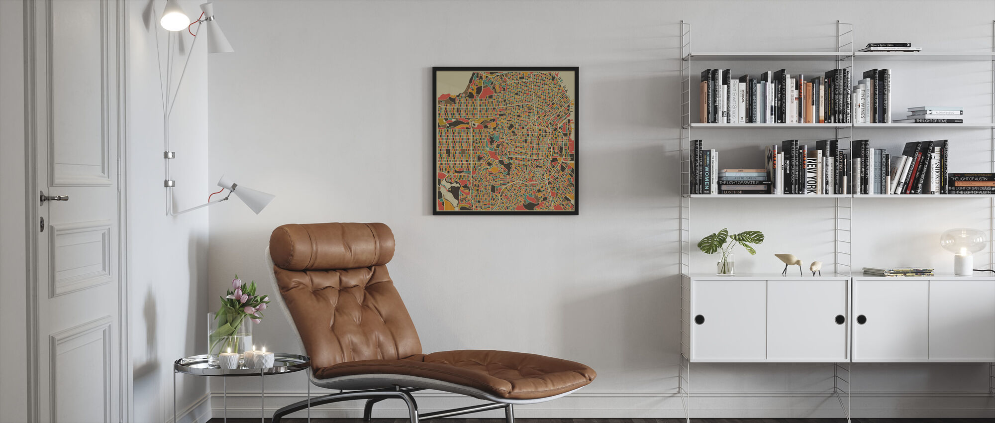 Multicolor Map - San Francisco - Framed print - Living Room