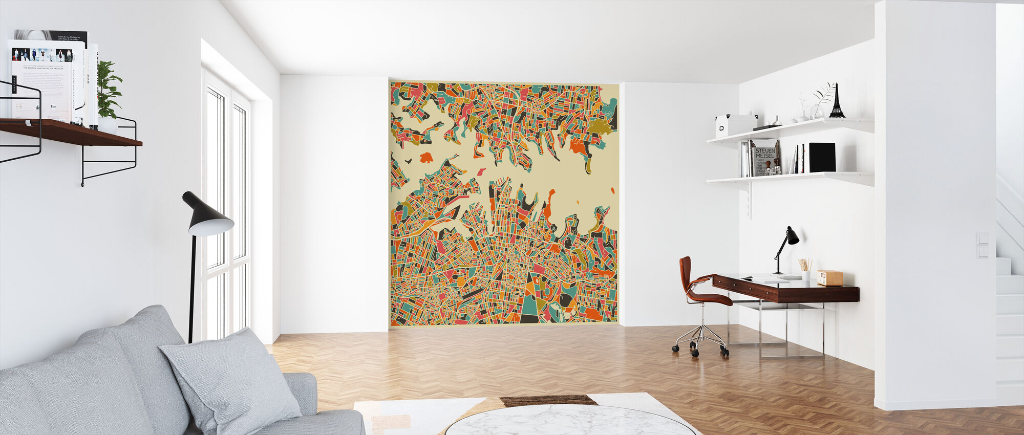 Multicolor Map - Sydney - Wallpaper - Office