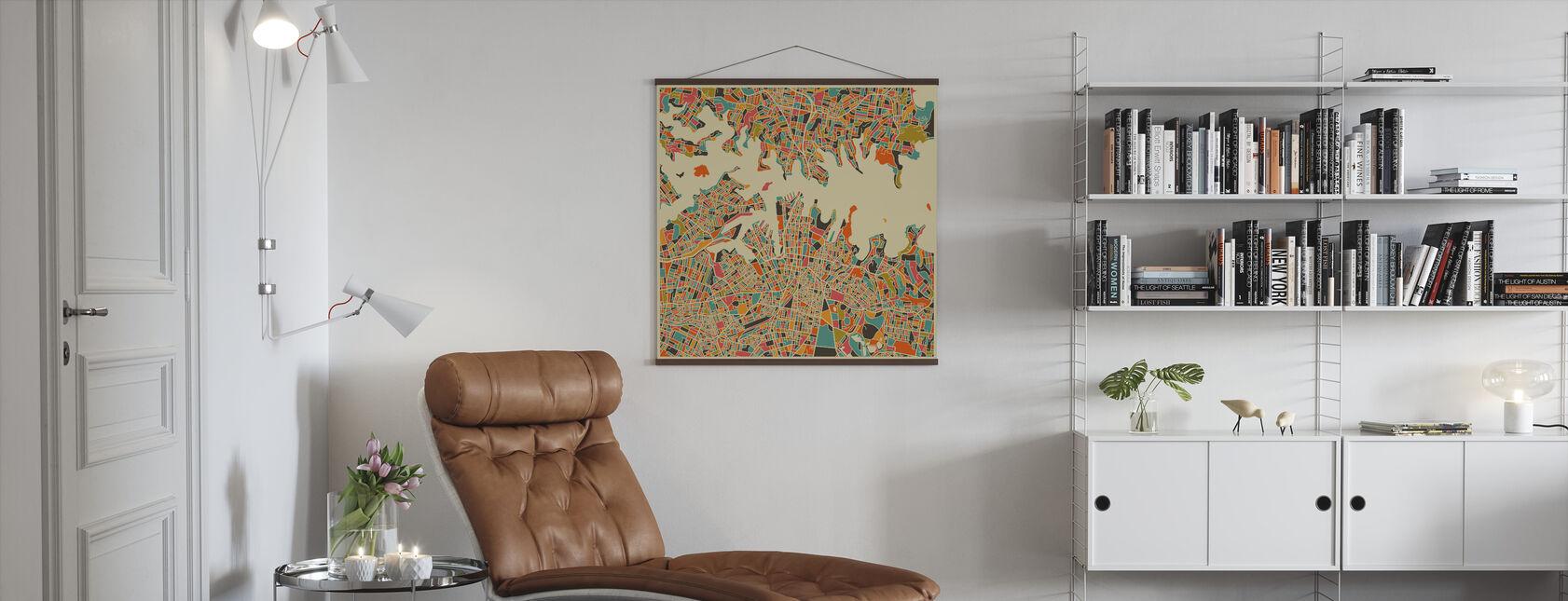 Map Of Sydney Sydneyn Kartta Juliste Posterstore Fi