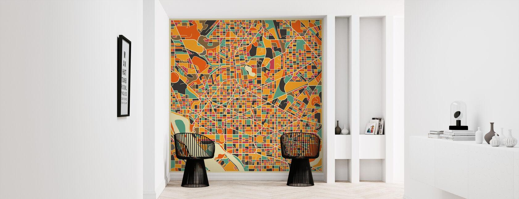 Multicolor Map - Washington - Wallpaper - Hallway