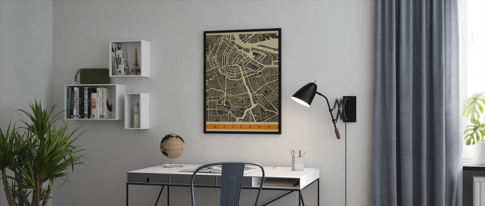Bykart - Amsterdam - Innrammet bilde - Kontor