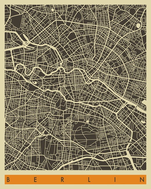 City Map - Berlin - Wall Mural & Photo Wallpaper