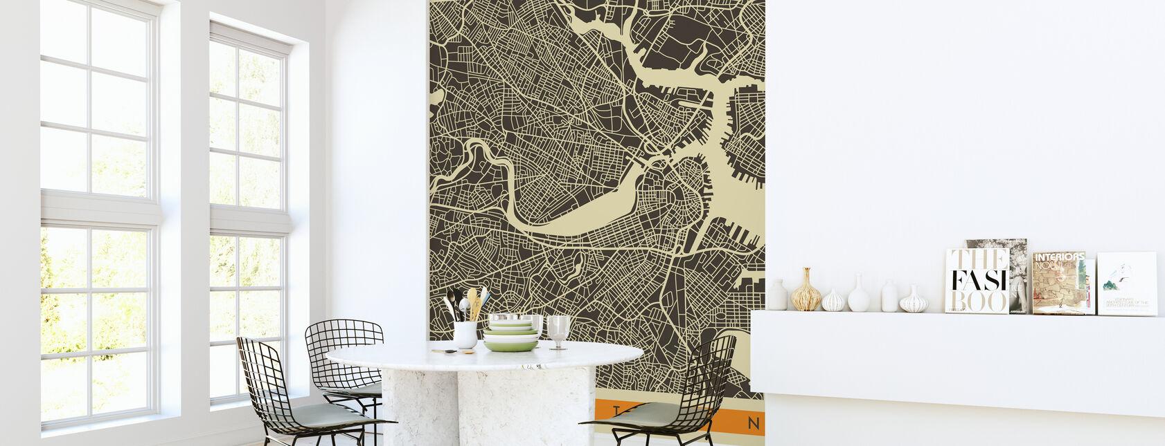 City Map - Boston - Wallpaper - Kitchen